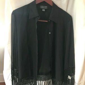 🎈100% Silk Shirt w/ Tassels